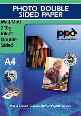PPD 100 A4 Photo Paper Double Sided Matt Heavy Weight 210g