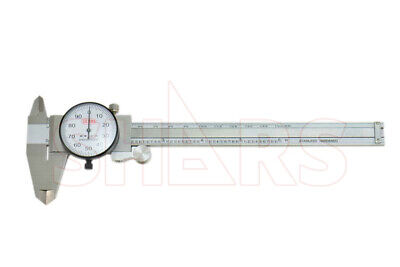 """0- 6"""" Dial Caliper With 150 Mm Metric Reading On Beam"""