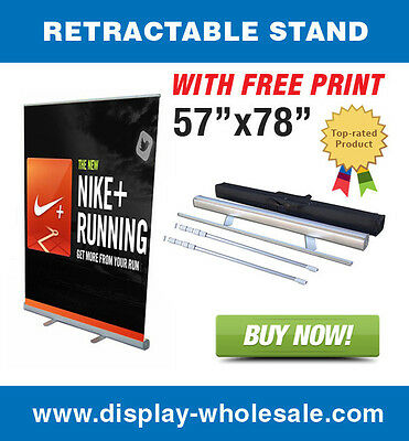 "57"" Wide Banner Stand + Free Full Color Banner Print"