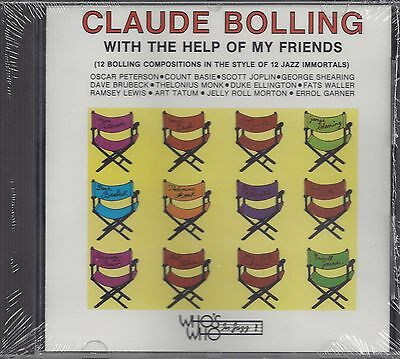 "CLAUDE BOLLING  ""With The Help Of My Friends""  NEW SEALED JAZZ CD"