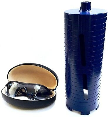 """6"""" Dry Diamond Core Drill Bit for Concrete Masonry 5/8""""-11 Threads with glasses"""