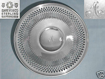 Shreve & Co. Sterling Silver Reticulated Sandwich Plate ~ Mono A