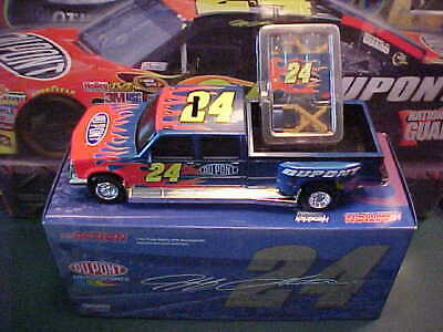 NEW 2005 JEFF GORDON #24 DUPONT FLAMES 1/24 DUALLY TAILGATE BANK SET