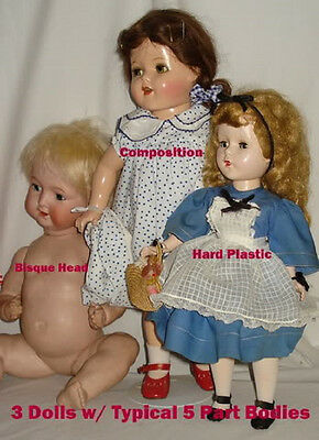 Doll Doctor Re-String Composition 5 Part Doll Body