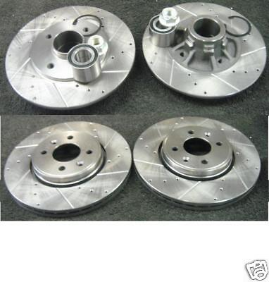 Megane Scenic  Front Rear Drilled Grooved Brake Disc