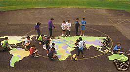 World Map Stencil Kit Outdoor Map of the World