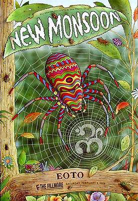 New Monsoon POSTER Eoto Fillmore Concert F915 Harry Rossit