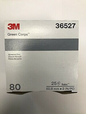 "3M Green Corps Roloc Grinding Discs, 2"" 50-Grit: 01396"
