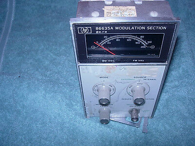 HP 86635A Modulation Section for 8660 Sig Gen *Works*