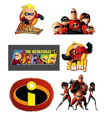 The Incredibles #5 6 pack T Shirt Iron on Transfer 8x10