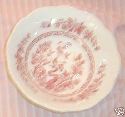 J. & G. MEAKIN INDIA PINK CEREAL BOWL