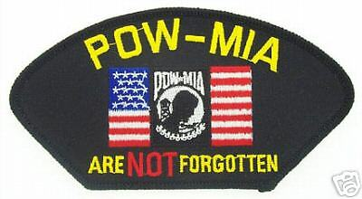 "POW/MIA Over Flag  ""Are Not Forgotten"" Patch FLB 1575"