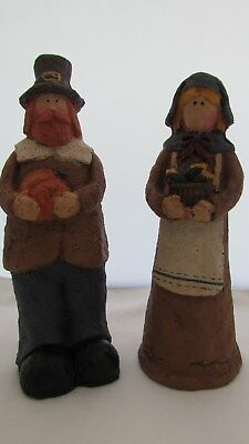 Primitive Style Thanksgiving Pilgrim Couple ~Set 2~ NEW
