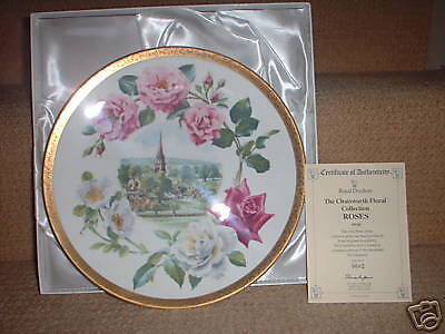 Doulton Chatsworth Floral Collection Plate Roses