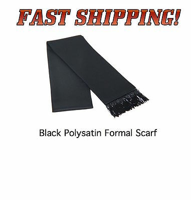 BLACK Formal Satin Tuxedo Scarf Scarves NEW Satin FAST SHIP