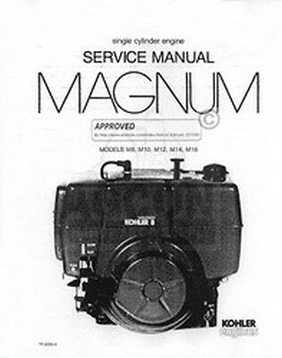 kohler magnum 8 10 12 14 16 hp m engine service manual • 20 38 kohler magnum 8 10 12 14 16 hp m engine service manual