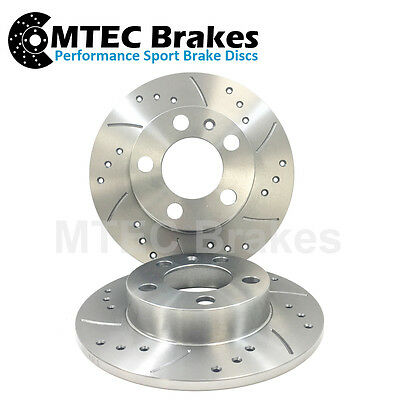 Polo 1.4 Front Drilled Grooved BRAKE DISCS 90-94