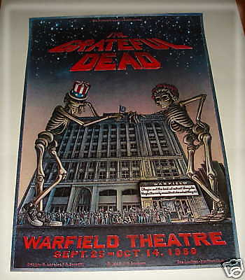 GRATEFUL DEAD- Warfield Theatre 9-25-80 CONCERT POSTER