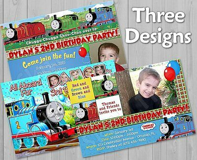 Custom Personalized Thomas and Friends Invitations w/ FREE Thank You Card
