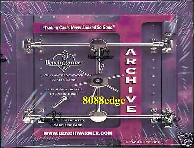 2009 Benchwarmer Archive Sealed Box: 4 Autos+Kiss+Bikini Swatch Per Box ! 6 Hits