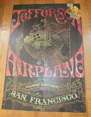 JEFFERSON AIRPLANE- Fillmore Auditorium CONCERT POSTER
