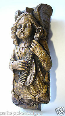 Scottish Edwardian Angel Lute carving Musical Scotland