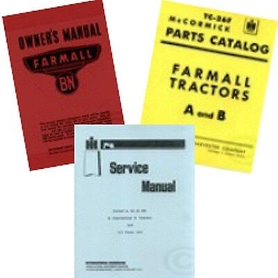 Farmall Bn Service Shop Operators Owners Parts Manual