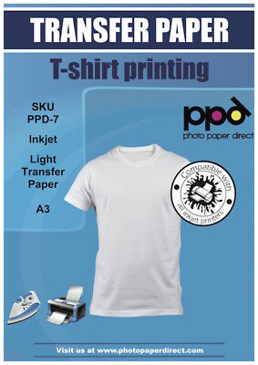 PPD A3 T Shirt Transfer Paper x 100 (Iron On) - FREE P&P