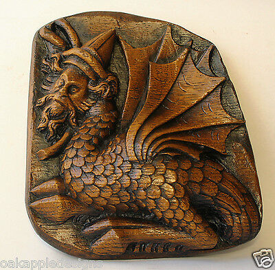 Wyvern Dragon Medieval Gothic Mythical Creature Cathedral Carving History Gift