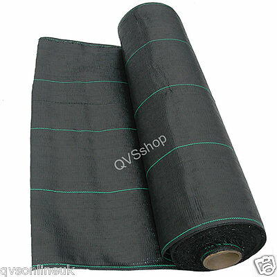 100M x 1M GROUND WEED CONTROL STOP FABRIC COVER SHEET HEAVY DUTY MEMBRANE SHEET