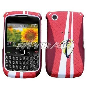 Red Number One Hard Case Cover BlackBerry Curve 8530