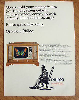 1965 Philco TV Ad  Mother In Law 20/20 Color
