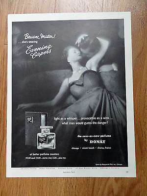 1954 Evening Capers Perfume by Donat Ad Beware Mister