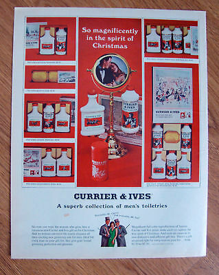 1965  Currier & Ives Men's Toiletries Ad