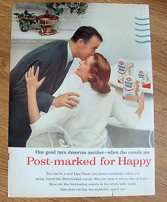 1957 Post Cereal Ad  Post-Marked Lazy Susan