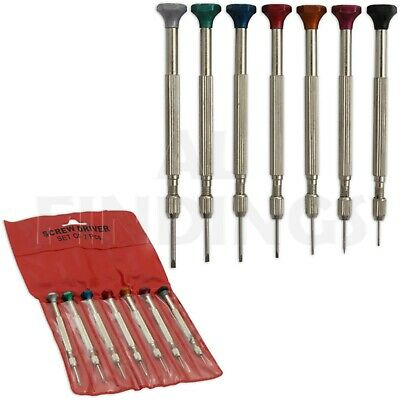 Watchmakers Watch Screwdriver Set 7 Piece Screwdrivers Repair Service Tool