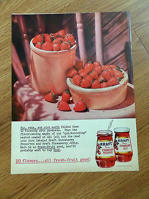 1960 Kraft Strawberry Preserves Jelly Ad