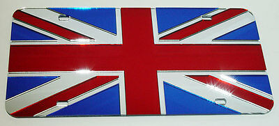UNION JACK Acrylic mirror license Plate MINI COOPER Tag