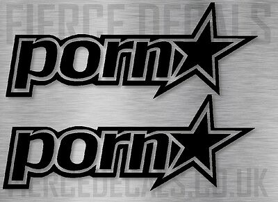 2 Pornstar Clothing Porn Star Decal Sticker Graphic