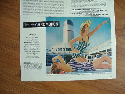 1958 Eastman Chromspun Swim Suits Ad Flexees