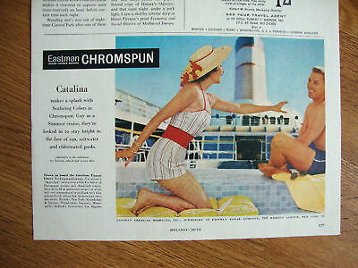 1958 Eastman Chromspun Swim Suits Ad Catalina