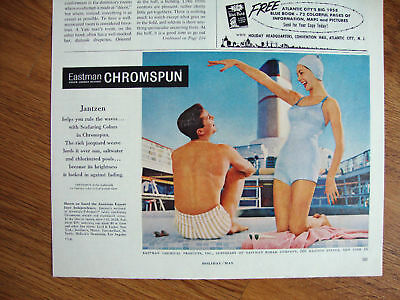 1958 Eastman Chromspun Swim Suits Ad Jantzen