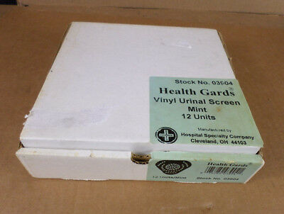 Hospital Specialty Co. 03904 Health Gards Box of 12 Mint Vinyl Urinal Screens