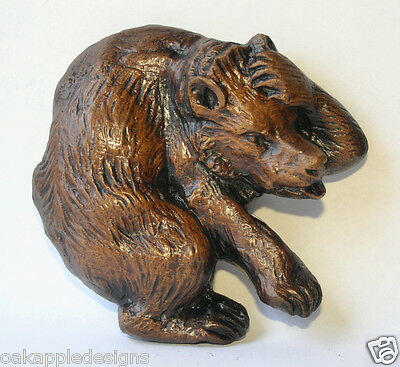 Bear Carving unique Wall Hanging Medieval Gothic Decor