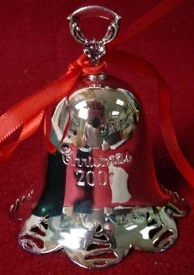 TOWLE Silver ANNUAL CHRISTMAS BELL 2001 Pierced Tree