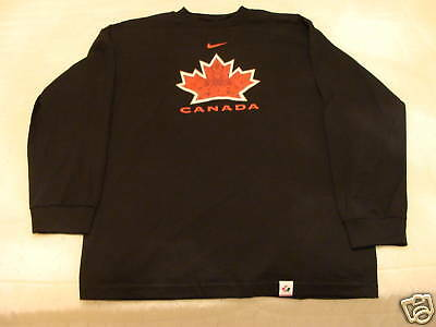 Team Canada 2010 Olympics Hockey L/S Black T Shirt M