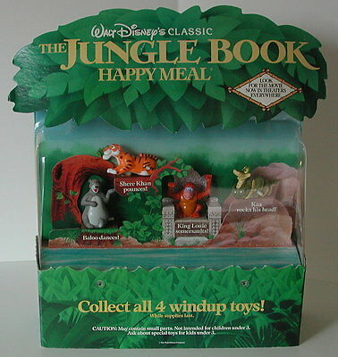 McDonalds Happy Meal Display 1990 Walt Disney's Jungle Book