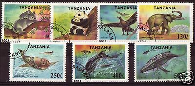 Tanzania1994 Endangered Species Set Of 7  F.used
