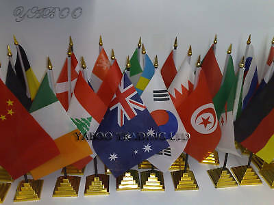 Lot of 48 different desk top country flags