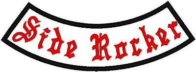"""Custom Embroidered Motorcycle  Side Rocker Patch 7"""""""